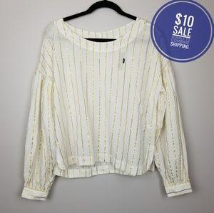 Gap metallic striped blouse